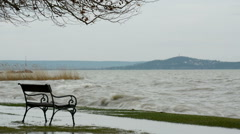 Stormy wind at Lake Balaton, Hungary Stock Footage