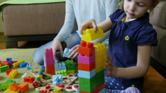 Mother and daughter playing together,motherhood, childhood concept. - stock footage