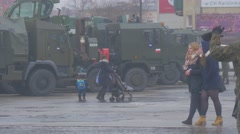 Soldiers Civil People Opole Nato Atlantic Resolve Operation People Are Walking Stock Footage