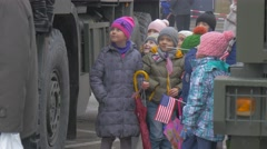 Kids Excursion to Military Camp Opole Atlantic Resolve Operation Smiling Stock Footage