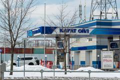 Zelenograd, Russia - February 20, 2016. gas station Karat Oil - stock photo