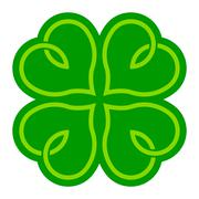 Lucky Clover Stock Illustration