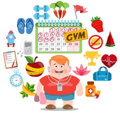 Round composition gym Stock Illustration