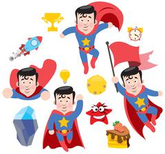 Superman - stock illustration