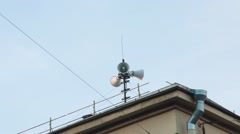 Loudspeaker On The Roof Stock Footage