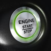 Engine Start and Stop Button, Automobile Starter Stock Illustration