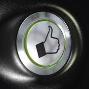 Quality service, Thumbs up Symbol, Automotive Concept. - stock illustration
