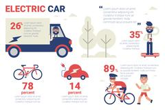 Electric car infographic Stock Illustration