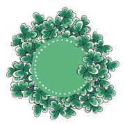 St. Patricks day card - stock illustration