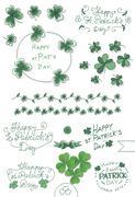 St. Patricks day set Stock Illustration
