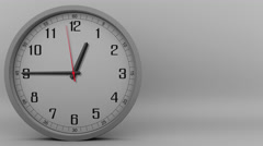 Time lapse of the grey clock measuring off  45 minutes. 4K footage Stock Footage