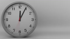 Time lapse of the grey clock measuring off  60 minutes (1 hour). 4K footage Stock Footage