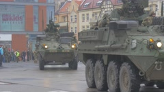 Panzers on a Square Opole Poland Parade Atlantic Resolve Operation Military Stock Footage
