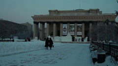 Opera Theatre In Novosibirsk - stock footage