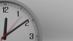 Time lapse shot of the gray clock measuring off 10 minutes interval. 4K footage Stock Footage