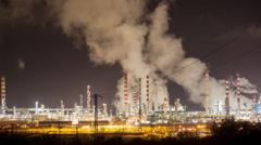 pollution factory industry climate change energy smoke power environment petrol - stock footage
