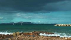 Majorca, Colonia de Sant Pere, bay view Stock Footage