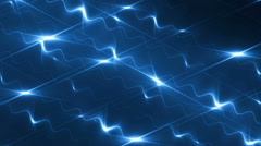Abstract blue background music videos. - stock footage
