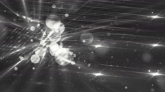 Moving gloss particles on silver background. Stock Footage