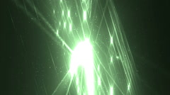 Disco spectrum lights concert green spot bulb. - stock footage