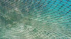 Barrier grid under water Stock Footage