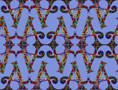 Seamless abstract symmetrical pattern. Created on the basis of drawing - stock illustration