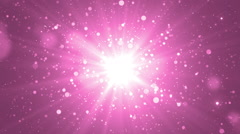 Moving gloss particles on pink background. - stock footage