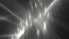 Disco spectrum lights concert silver spot bulb. - stock footage