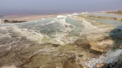 Travertine terraces at Pamukkale, Turkey. 4k Stock Footage