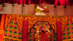 Puppets show in Nyaungshwe of Myanmar Stock Footage