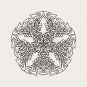 Stock Illustration of Vector mandala. Gothic lace tattoo. Celtic weave with sharp corners