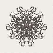 Vector mandala. Gothic lace tattoo. Celtic weave with sharp corners Stock Illustration