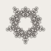 Stock Illustration of Vector ornate border. Gothic lace tattoo. Celtic weave with sharp corners