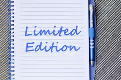 Limited edition write on notebook - stock photo