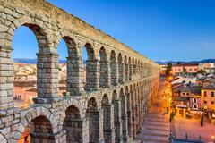 Segovia Spain Aqueduct Stock Photos