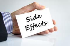 Side effects text concept Stock Photos