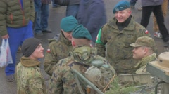 Nato Soldiers at the Parade Atlantic Resolve Operation in Opole Poland Soldiers Stock Footage