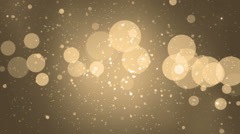Abstract lights bokeh gold background. - stock footage