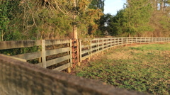 Georgia Horse Farm Fence Ranch - stock footage