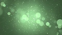 Abstract lights bokeh green background. - stock footage