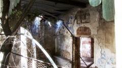 Nicosia Cyprus Green Line - Lefkosia medieval Knights Templar ruins - stock footage