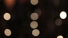 Defocused bokeh lights Stock Footage