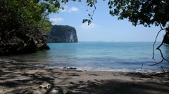 Beauty of Hong island. Sandy beaches of Thailand. Stock Footage