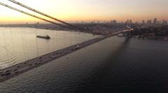 Istanbul Bosphorus Bridge Stock Footage