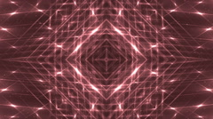 VJ Fractal red kaleidoscopic background. Stock Footage