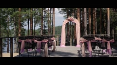 Wedding ceremony decoration Stock Footage