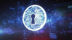 Keyhole. Internet Security Concept Stock Illustration