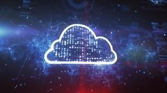 Cloud System Technology Concept Stock Illustration
