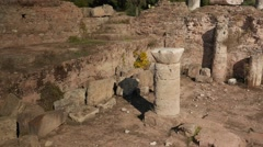 Ruins of an ancient bath house in Tralleis, Aydin, Turkey. 4k - stock footage