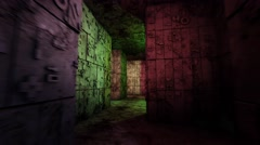 4K Mysterious Fantasy Enigmatic Maze Labyrinth 3D Animation 4 Stock Footage